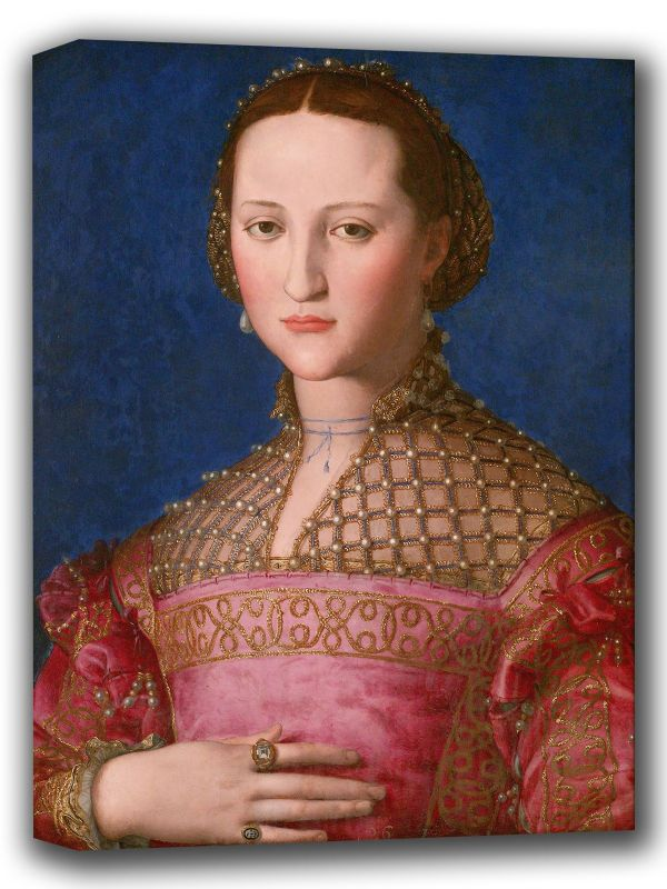 Bronzino, Agnolo: Eleonora of Toledo. Fine Art Canvas. Sizes: A4/A3/A2/A1 (001980)